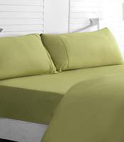 Комплект постельного белья оливкового цвета (Евро) заказать в Херсоне
