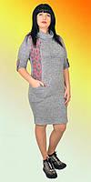 Женское платье светло серого цвета