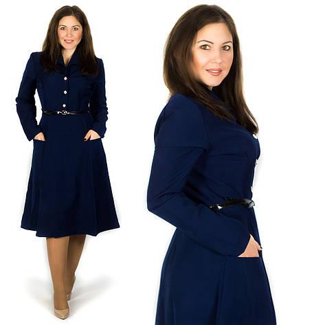 Темно-синее платье 15580, большого размера, фото 2