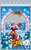 Новогодние пакеты для конфет и подарков 100шт. 25*40 см