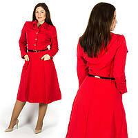 Красное платье 15580, большого размера