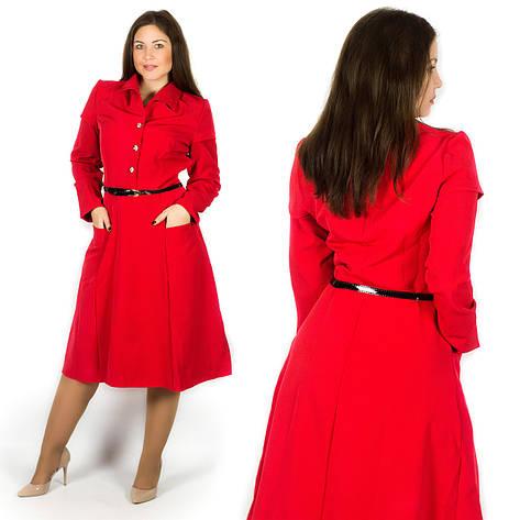 Красное платье 15580, большого размера, фото 2