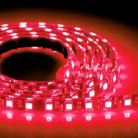 Светодиодная лента 24В 3528 (120LED/м) IP65 красный
