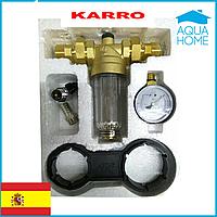Магистральный самопромывной фильтр для холодной воды  1/2 Karro (Испания)