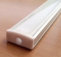 Алюминиевый профиль для светодиодной ленты накладной LL № 15 (2 метра)