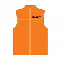 Жилет для бега Givova Casacca Running Оранжевый флуоресцентный