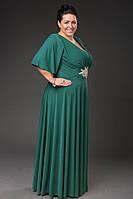 Платье длинное с украшением в расцветках 13193