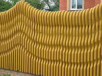 Забор деревянный декоративный «Волна» как образец.
