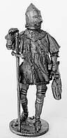 Оловянная миниатюра. Оловянный солдатик. Рыцарь Бертран де Геклен 1380