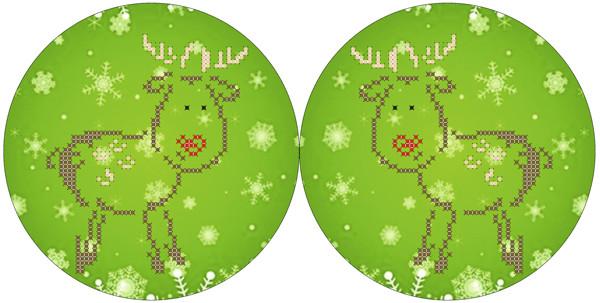 СКМ-156. Схема для вишивки бісером Новорічна іграшка