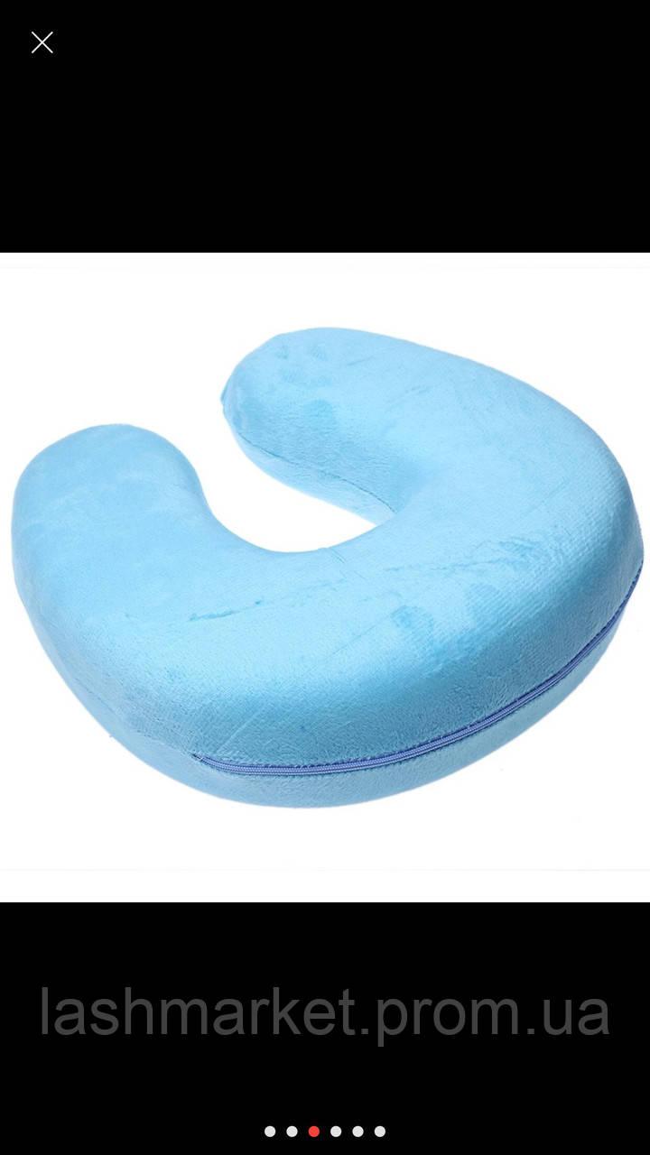 Ортопедическая подушка для клиента (голубая)