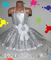 Детское праздничное платье  на девочку (нарядное, новогоднее) 5-9 лет молния шнуровка, шлейф