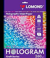 """Фотобумага с голографическим эффектом """"Glitter"""" (Блеск), А4, 260 г/м2, микропористая, односторонняя"""