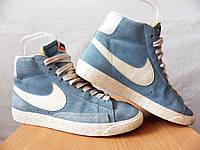 Кроссовки Nike Blazer 100% ОРИГИНАЛ р-р 38 (24см) (Б/У СТОК) найк adidas рибок блазер высокие голубые original