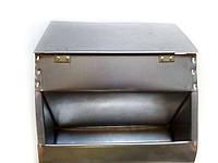 Бункерная кормушка для кроликов и др. грызунов на 3,5 литра с крышкой