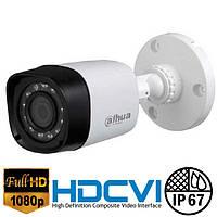 Цилиндрическая 2Мр HDCVI видеокамера Dahua DH-HAC-HFW1220RP-S3 2.8 мм