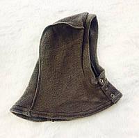 Шапка - шлемик флисовый, серый
