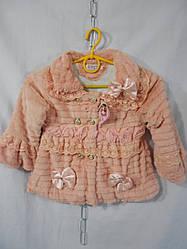 Детская шубка для девочки демисезонная (2 - 5 лет) на флисе