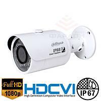 Цилиндрическая 2Мр HDCVI видеокамера Dahua DH-HAC-HFW1200SP-S3