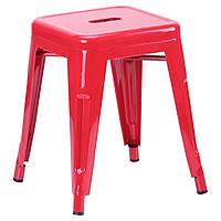 Табурет Loft Metal (разные цвета) Красный