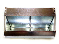 Бункерная кормушка для кроликов и др. грызунов на 5 литра +с перегородкой