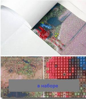 Набор алмазной мозаики Кошка с котенком, фото 2