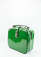 Сумка женская зеленая лаковая (03-055)