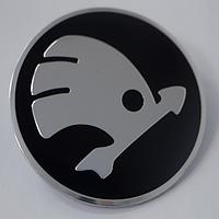 Наклейки на литые диски Skoda 56,5 мм выгнутые
