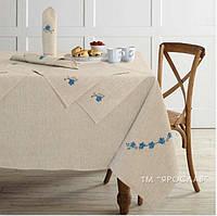 Скатертину на великий стіл льон + серветки 150x225