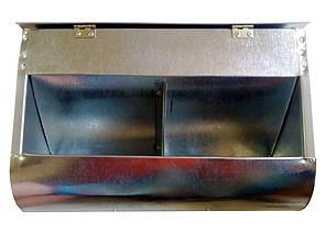 Бункерная кормушка для кроликов и др. грызунов на 5 литра +с перегородкой +с крышкой, фото 2