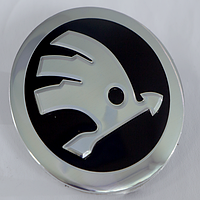 Наклейки на литые диски Skoda 56 мм выгнутые