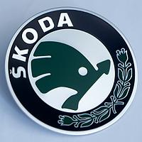 Наклейки на литые диски Skoda 56 мм вогнутые