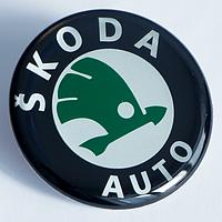 Наклейки на литые диски Skoda 45 мм плоские