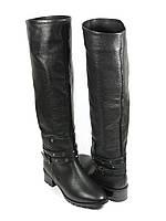 Зимние стильные сапоги кожаные