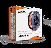 Проволока омеднённая сварочная GRADIENT ER70S-6 (диаметр 0,8мм), 1кг