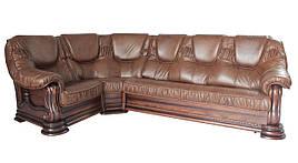 """Кутовий диван в шкірі """"Grizly lite"""" (Грізлі лайт)."""