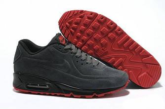 Кроссовки Nike Air Max 90 VT Gray Серые Замш мужские