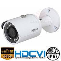 Цилиндрическая 2Мр HDCVI видеокамера Dahua DH-HAC-HFW1220SP-S3 2.8 мм