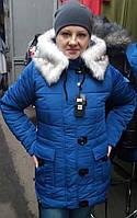 Женская куртка с мехом (44-50), доставка по Украине