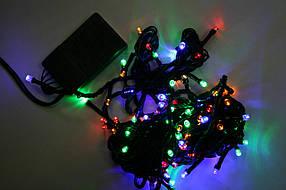 Гирлянда светодиодная 100 led мульти (черный провод)