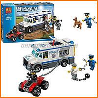 """Конструктор Bela 10418 (аналог Lego City 60043) """"Автомобиль для перевозки заключенных"""""""