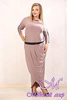 Длинное женское платье больших размеров р. 48-90 арт. Француаза