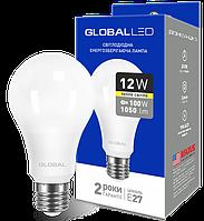 Лампа светодиодная GLOBAL A60 12W 3000K 220V E27 AL Арт.(1-GBL-165)