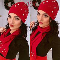 Комплект шапочка с шарфом КТ151