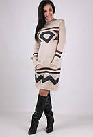 Вязаное платье - Диамант