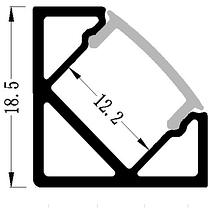 Алюминиевый профиль для светодиодной ленты угловой LL № 17 (1 метр), фото 2