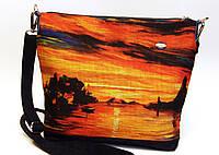 Женская стеганная сумочка Закат