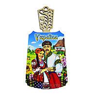 "Кухонная подарочная доска ""Украина: Молодая украинская семья"""