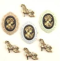 Пуговицы фигурные «Royalty» Buttons Galore