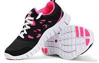 Кроссовки Nike Free Run 2.0 Black Pink (Черные)